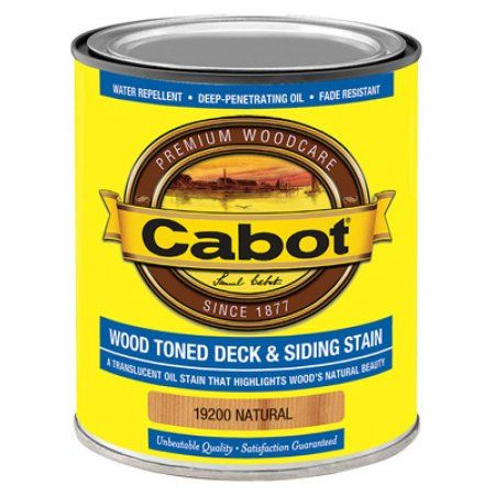 Cabot/Valspar 19200-05 Wood Toned Deck & Siding Stain (VOC) Natural - Quart